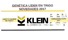 KLEIN - Novedades 2017 Sur