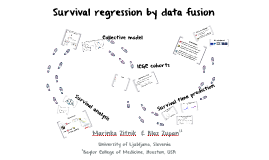 Survival regression by data fusion