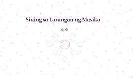 Sining sa Larangan ng Musika