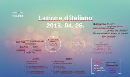 Lezione d'italiano