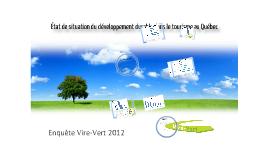 Etat de situation du développement durable dans le secteur du tourisme