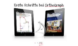 Erste Schritte bei OrthoGraph