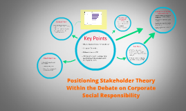 "positioning stakeholder theory within the debate A stakeholder theory of the firm  ""the shareholder vs stakeholder debate has been ongoing for at least the last nine decades""  1) brand positioning:."