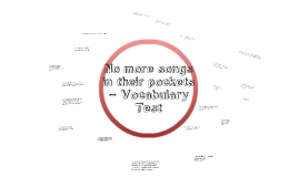No more songs in their pockets – Vocabulary Test