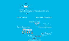 SSHA Impact Strategies at the university level