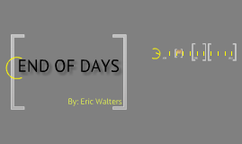 "Book Talk ""End of Days"""