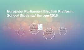 School Students' Europe 2019