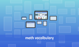 math vocalbulary
