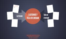 ELASTICIDADES Y FALLAS EN EL MERCADO