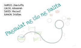 Copy of Copy of PAGSULAT NG ULO NG BALITA