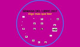 SEMANA DEL LIBRO 2017