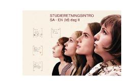 STUDIERETNINGSINTRO II