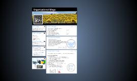 Organizational Blogs