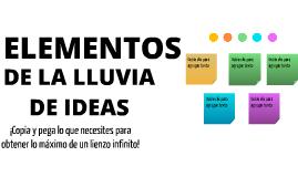 Plantilla - Elementos de Lluvia de Ideas by Jaime Oyarzo