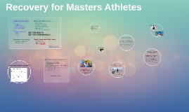 Recovery for Masters Athletes
