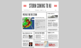 STORM COMING TO NJ