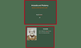 Aristotle and Ptolemy