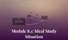 Module 8.1: Ideal Study Situation