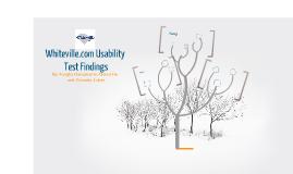 Whiteville.com Usability Presentation