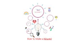 10 Steps For A Resu'me