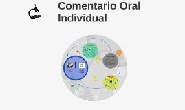 Comentario Oral Individual