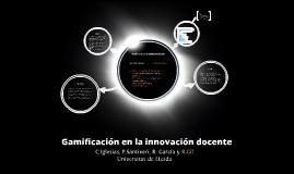 Gamificación en la innovación docente