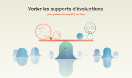 Varier les supports d'évaluations