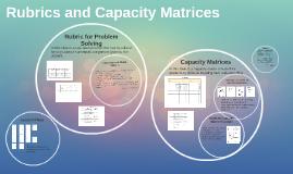 Rubrics and Capacity Matrices