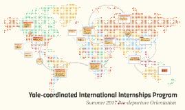 Yale-coordinated International Internships Program
