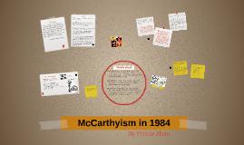 McCarthyism in 1984
