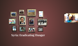Syria: Eradicating Hunger