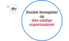 Sosiale bevegelser og ikke-statlige organisasjoner