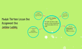 Copy of Module Thirteen Lesson One Assignment One