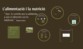 L'alimentació i nutrició