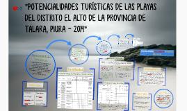 """""""POTENCIALIDADES TURÍSTICAS DE LAS PLAYAS DEL DISTRITO EL AL"""