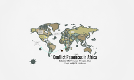 Conflict Resources in Africa
