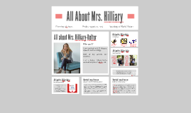 All About Mrs. Hilliary