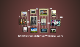 Copy of Overview of Maternal Wellness Work