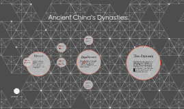 Copy of Ancient China's Dynasties.