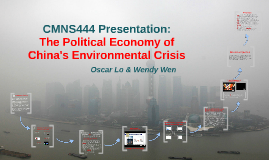 Political Economy of China's Environmentalism