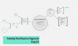 Evaluating Three Measures of Aggression Using CFA