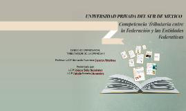 Competencia Tributaria entre la Federacion y las Entidades F