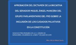 SESIÓN EXTRAORDINARIA DE LA H. CÁMARA DE SENADORES,