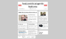 The Media, Current Affairs And Support Within The Public Services.
