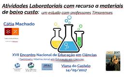 Atividades Laboratoriais de baixo custo: um estudo com profe