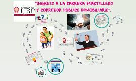 INGRESO A LA CARRERA MARTILLERO Y CORREDOR PUBLICO INMOBILIA