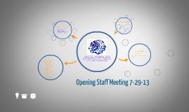 WCHS opening staff meeting 2013