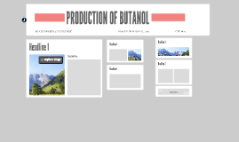 PRODUCTION OF BUTANOL