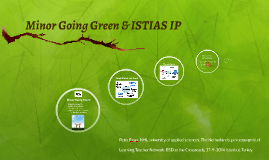 Copy of Going Green & ISTIAS IP