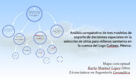 Análisis comparativo de tres modelos de soporte de decisione